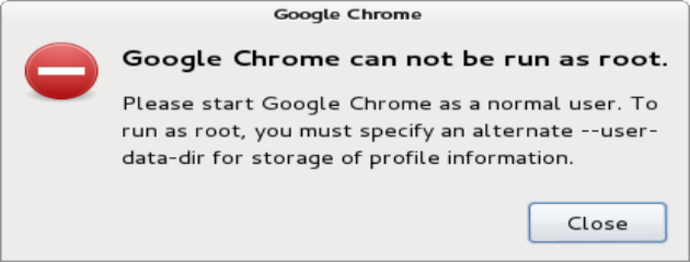 Google chrome not run