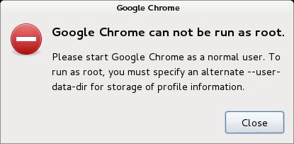 Run Google Chrome as a Root Error in Linux