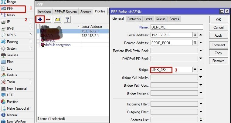 PPPoE Server Configuration in MikroTik Router