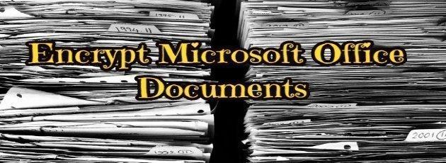 Encrypt Microsoft Office Documents