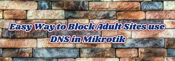 Easy Way to Block Adult Sites use DNS in Mikrotik