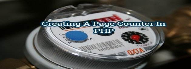 How to Creating A Page Counter In PHP