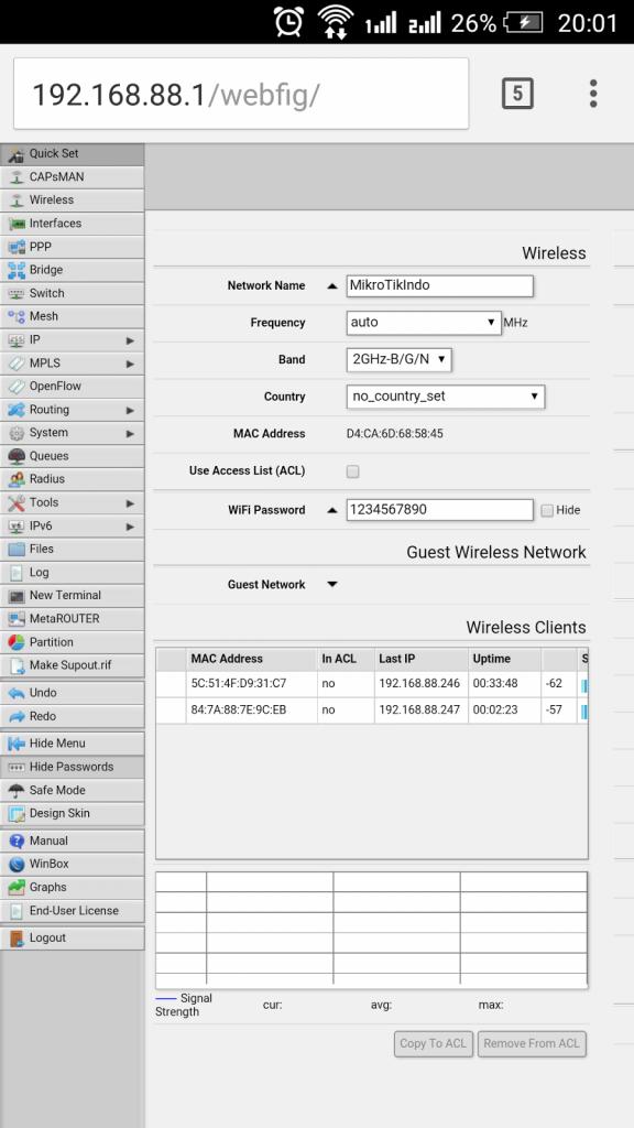 Mikrotik easily using this Webfig