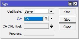 Sign Certificate SSL Server