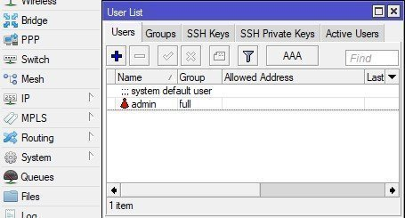 Username Configuration in Mikrotik Router
