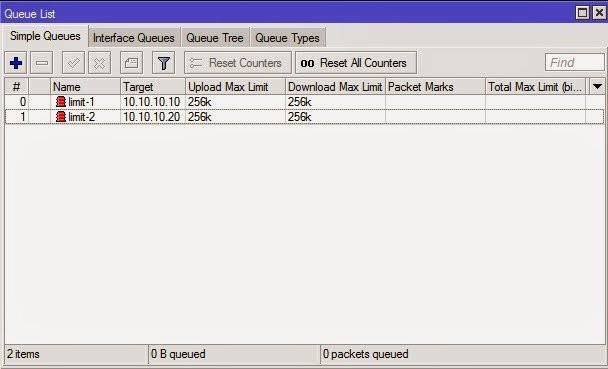 Mikrotik Bandwidth Management Using the Simple Queue