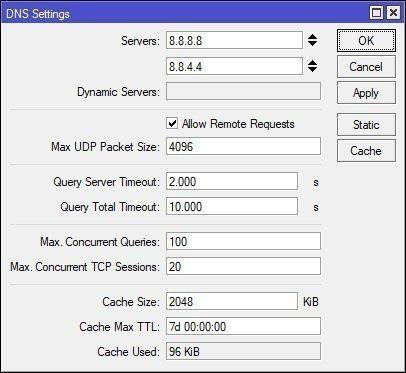 Allow remote DNS request