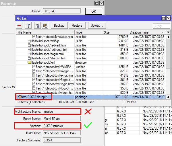 Can not Install file NPK in Mikrotik