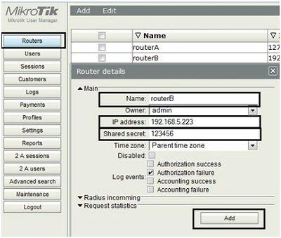 Configurações do Hotspot Usermanager do Mikrotik