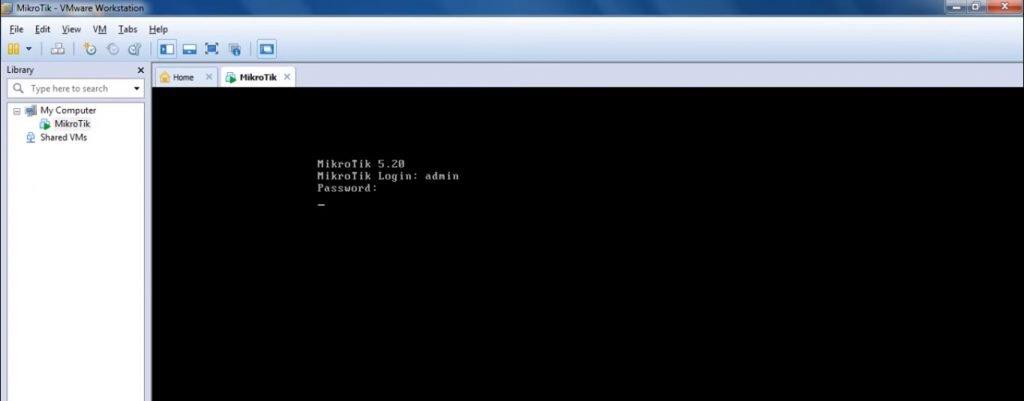 Mikrotik its VMware Login
