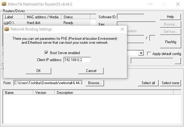 PC static IP