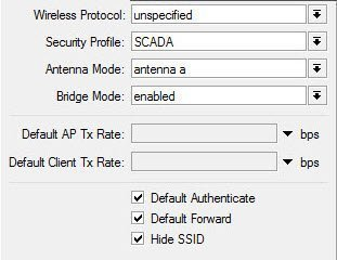 Mikrotik Wireless Security Profile tool