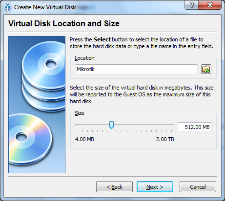 Virtual Disk Location