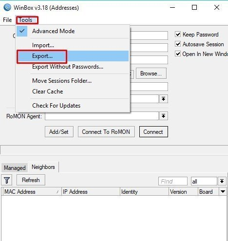 How to View Mikrotik Winbox Password
