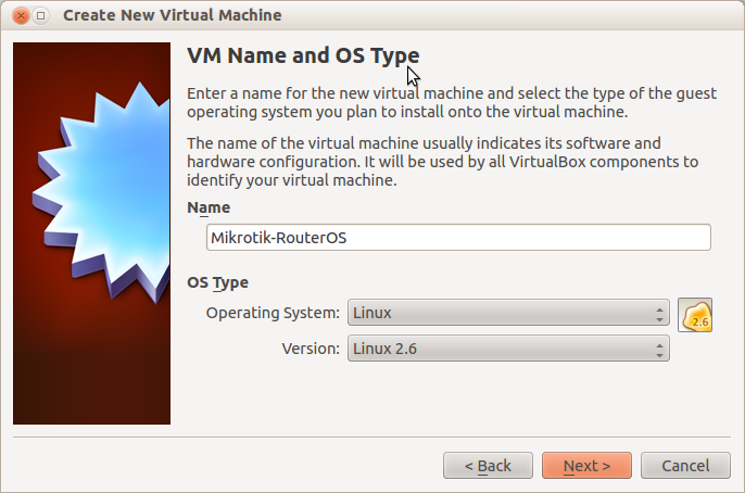 Mikrotik VM from VM list
