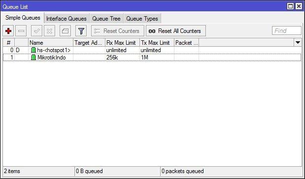 Bandwidth Limit Mikrotik Router