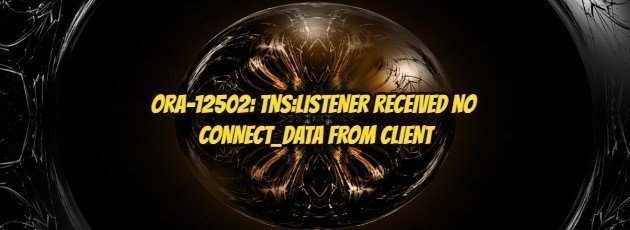 ORA-12502: TNS:LISTENER RECEIVED NO CONNECT_DATA FROM CLIENT