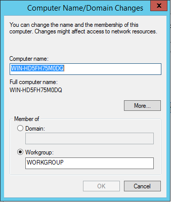 Computer Name/Domain Changes