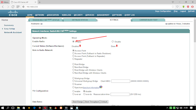 Connect RB Mikrotik and Cisco AP