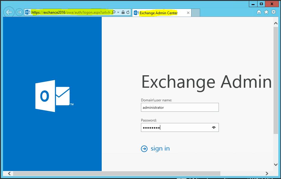 Exchange Admin Center