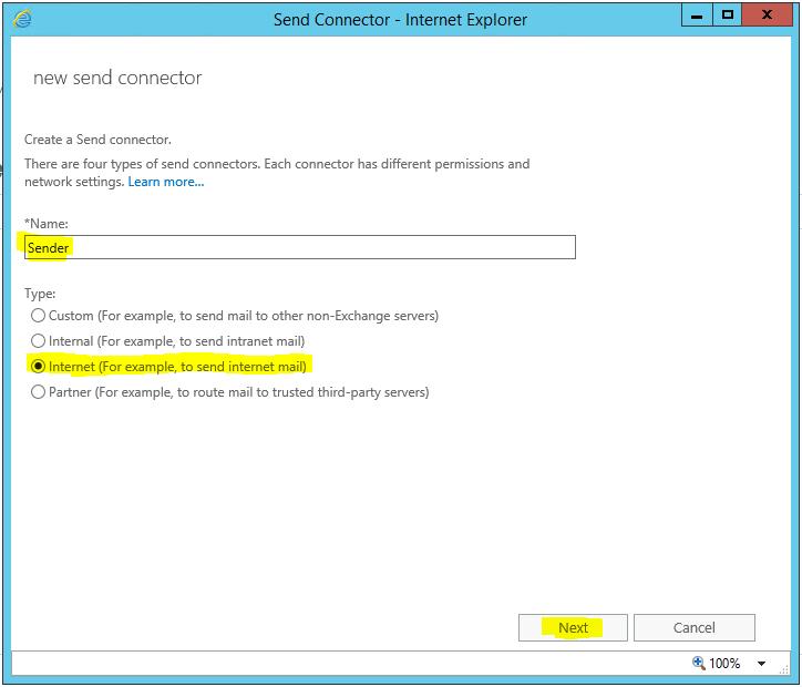 Exchange Internet Explorer