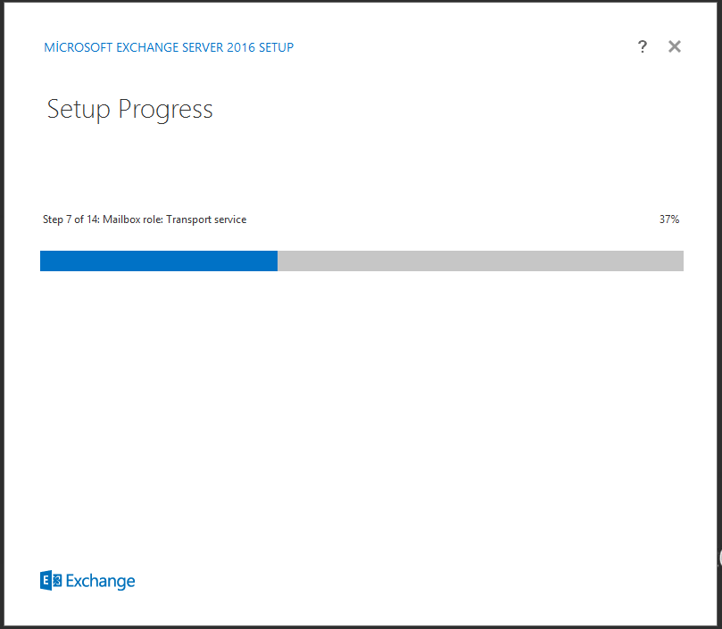 Exchange Server 2016 Setup