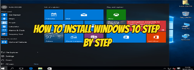 How to Install Windows 10 Step by Step