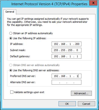 Internet Protocol Version 4 (TCP/IP) Properties