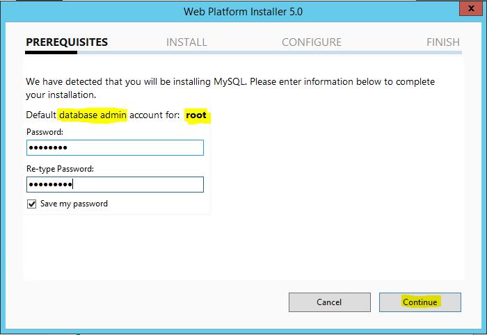 Web Platform Installer 5.0 Prerequisites