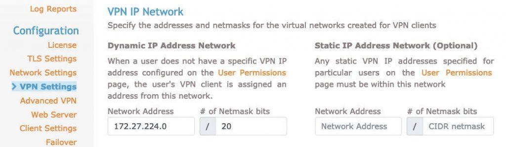 vpn ip network openvpn