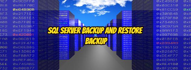 Sql Server Backup and Restore Backup
