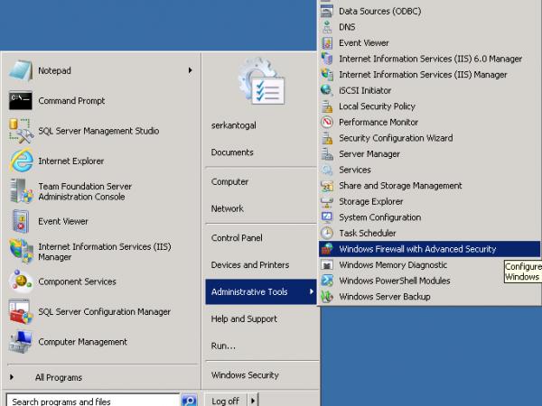 Windows Firewall Width Advanced Security