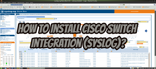 How to Install Cisco Switch Integration (Syslog)?