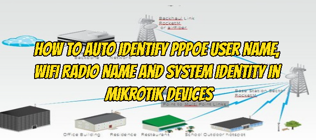 How to Auto Identify PPPoE User Name, Wifi Radio Name and System Identity in Mikrotik Devices