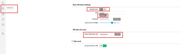 Basic Wireless Settings Station Configure